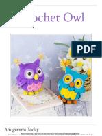 Crochet Owl Amigurumi Pattern