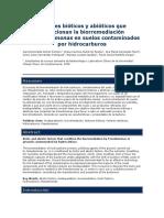 Factores Bioticos y Abioticos en La Biorremediacion