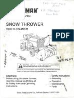 Craftsman 842.240531 Snowthrower