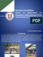 Mecanica de Solidos Clase N&Deg;10 Efecto de La Temperatura, Por Ajustes y Deformaciones Previas