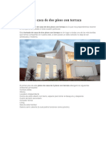 Modelo de Casa de Dos Pisos Con Terraza e Interior