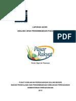Laporan Akhir Analisis Arah Pengembangan Pasar Rakyat Printed