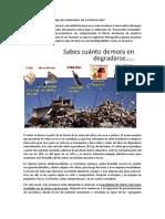 Reutilización y Reciclaje de Materiales