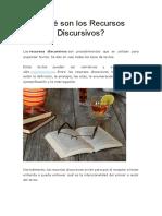 Qué son los Recursos Discursivos.docx