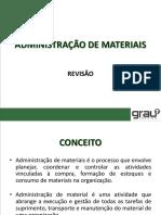 Administração de Materiais - Revisão