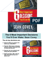 Sean Covey Six Most Important Decisions Youll Ever Make