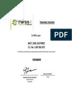 Certificado Tharsis
