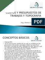 03.01 Costos y Presupuestos de Trabajos en Topografia Curso de Actualizacion Epita