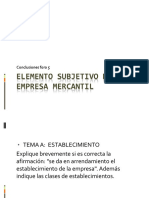 Foro 5 Elemento Subjetivo de La Empresa Mercantil