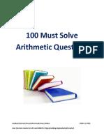 100 Arithmetic Questions
