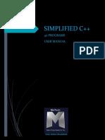 Simplified C++ 40 programs user manual