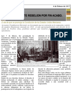 Noticia de La Constitucion de 1917
