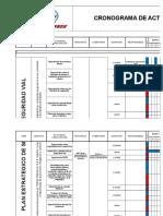 Cronograma de Actividades de Formacion, Capacitacion y Entrenamiento