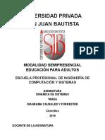 TAREA - SISTEMAS DINAMICOS - DIAGRAMA CAUSALES Y FORRESTER.doc