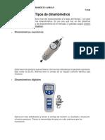 Tipos de Dinamómetros
