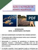 Alimentação e Nutrição de Organismos Aquáticos