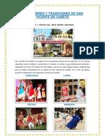 Costumbres y Tradiciones de San Vicente de Cañete