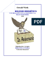 WIRTH, OSWALD-El Simbolismo Hermético Y Su Relación Con La Alquimia Y La Francmasonería 1910