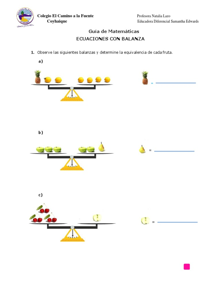Ecuaciones Con Balanzas