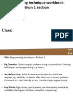 programming technique- python 1- workbook