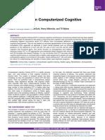 Controversias en El Entrenamiento Cognitivo Computarizado