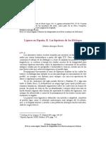 Ligures en España- Hipótesis de Los Filólogos