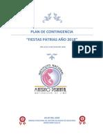 Plan de Contingencia Fiestas Patrias 2018