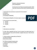 Perguntas e Respostas GINCANA