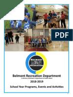 Belmont Recreation Department Program 2019-2020