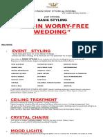 1st Option (Basic Wedding Package)