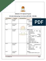 Schedule Iasbaba Anthropology Test Series 2019