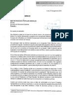 Nestor Popolizio debe informar a Comisión de Venecia imprecisiones de Pedro Olaechea