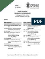 Coloquio Información y Post Humanidades - PROGRAMA Definitivo
