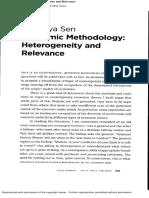 Economic Methodology and Relevance