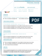 Fresh Blue Resume-WPS Office