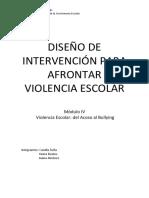 DISEÑO DE INTERVENCIÓN PARA AFRONTAR VIOLENCIA ESCOLAR_modilo iv