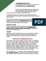 SUGERENCIA GUION PRESIDENTE CONMEMORACIÓN 2019