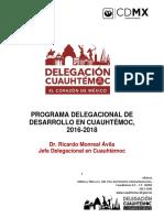 Programa de Desarrollo Delegacional 2016-2018 1
