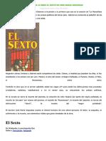 Resumen de La Obra El Sexto de Jose Maria Arguedas