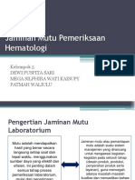 Jaminan Mutu Pemeriksaan Hematologi