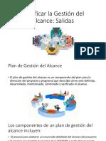 Planificar La Gestión Del Alcance (Expo de Gestión de Proyectos)