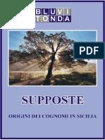 Supposte Origini Dei Cognomi in Sicilia