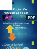 Capacitación de Proyección Vocalica Para Profesionales de La Voz