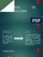 Prosesos De Fabricacion