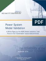 NERC model validation