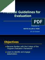 Program Evaluation ED 310