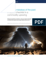 Avoiding Mistakes of the Past a CEOs Checklist in a Commodity Upswing