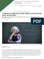 """""""Cedemos Os Dados Sem Receber Nada Em Troca. Deveria Haver Um Mercado"""" _ Tecnologia _ EL PAÍS Brasil"""