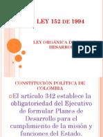 Ley Orgánica Plan de Desarrollo