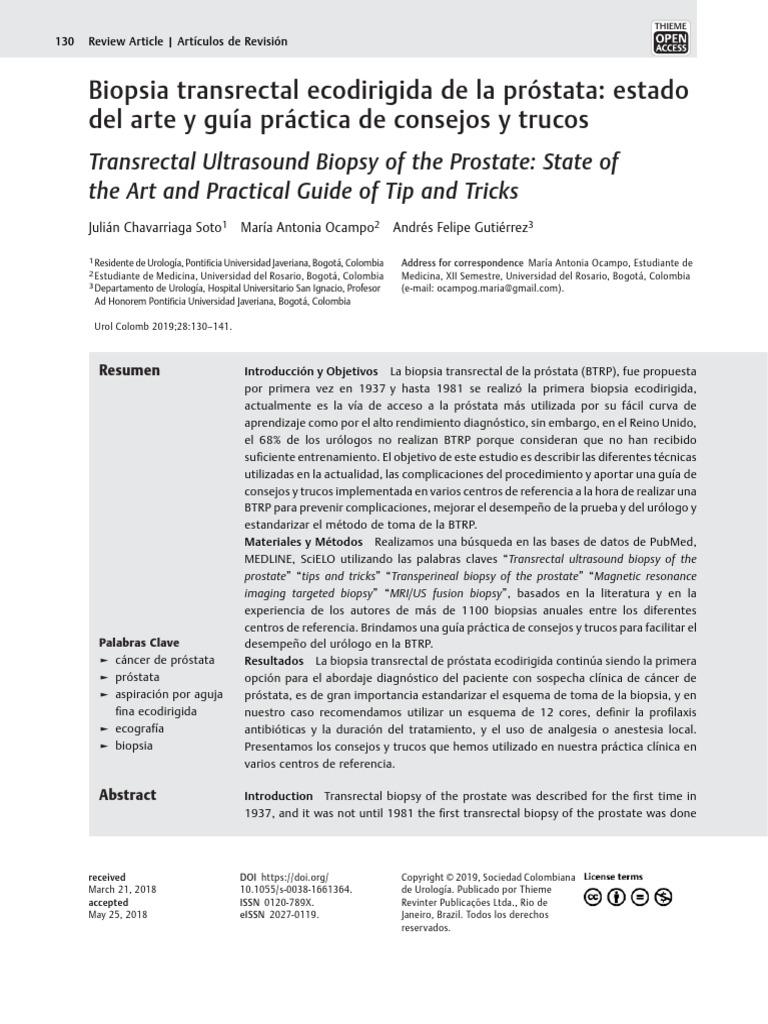 aumento volumétrico en la próstata 25 ml